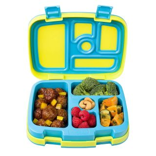 Bentgo Kids Brights Leak-Proof, 5-Compartment Bento-Style Kids Lunch Box Ideal Portion Sizes for Ages 3 to 7 BPA-Free and Food-Safe Ma