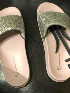 Brand new with tags I.N.C. Pool Slides size Med 7/8
