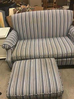 Loveseat Ottoman Chair set,