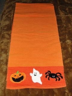 """HALLOWEEN """"GHOST PUMPKIN SPIDER"""" THICK TABLE RUNNER FROM TARGET"""