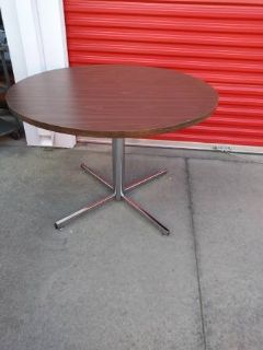 Large Round Dining table with Chrome base