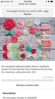 NEW Etsy bow making kits. Includes all materials pictured in both sets.