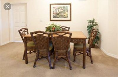 Rattan table for sale