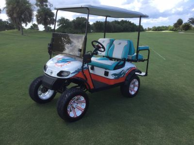 2017 E-Z-Go Miami Dolphins Custom Golf Golf Carts Fort Pierce, FL