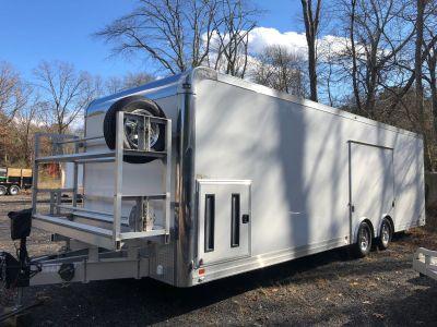 28' 2018 ATC Enclosed All Aluminum Trailer Quest 205 Extended Tongue, 48 Side Door
