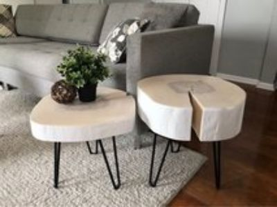 Tree slice coffee table or end tables