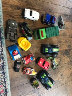 Larger sized cars appropriate for smaller kids. Lot #1