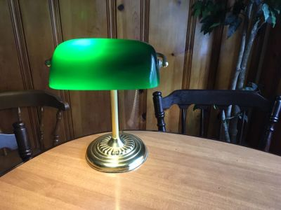 Vintage lamp with green shade
