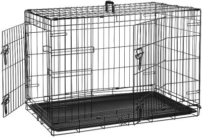 New in Box Large Collapsible 2 Door Metal Crate