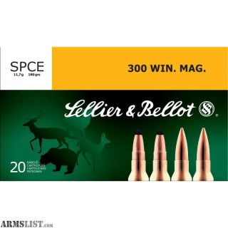 For Sale: 400 Rounds Sellier & Bellot 300 WIN. mag 180 GR
