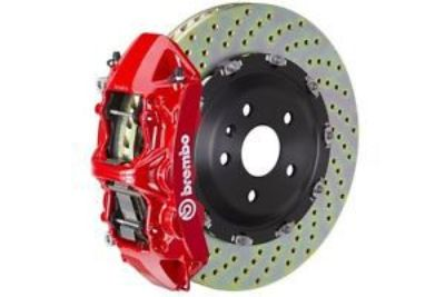 Find Brembo GT Brake kit Front 380mm 2 pc Drilled 6 Piston Red A6 3.0T 4.2L C6 05-11 motorcycle in Sanford, Florida, United States, for US $4,411.20
