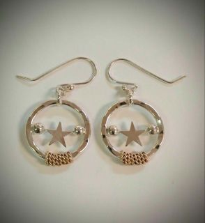 Silver Star with wrap Earrings