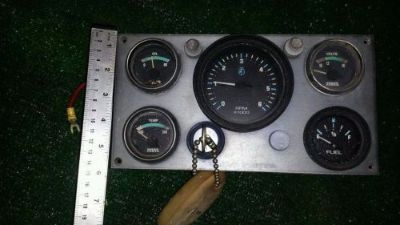Sell Volvo Penta V8 gauge Cluster Tach Oil temp Volt & fuel gauge Ignition switch key motorcycle in North Port, Florida, United States, for US $45.00
