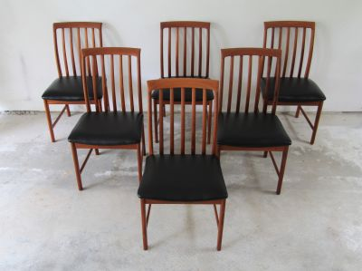 Fantastic Set of 6 Teak Dining Chairs, Dux Sweden