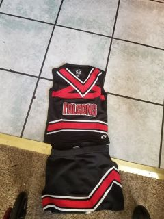 Little Girls Falcons Cheerleader Costume size Small