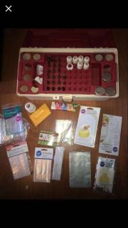 WILTON Cake Decorating caddy lot with tips and lots of Extras pick up Derry