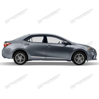 Buy TOYOTA COROLLA Lower Chrome Accent Body Side Mouldings 3M Trim 2014 motorcycle in Cleveland, Ohio, US, for US $129.20