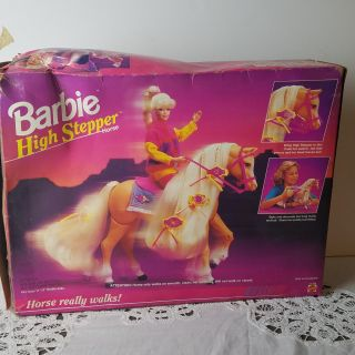 Vintage Mattel 1994 Barbie High Stepper horse with accessories