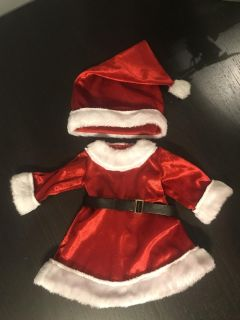 Super Cute Santa Doll Dress and Hat Excellent Condition for 18 Dolls $5.00