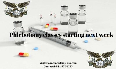 Phlebotomy Tech Course (Spots Filling Quickly, Apply Soon!)