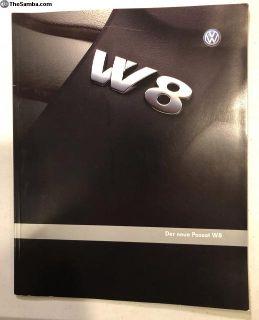 2001 German Passat W8 Brochure