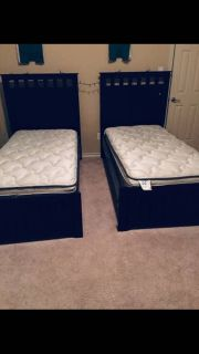 Two twin beds with mattresses great condition!!!