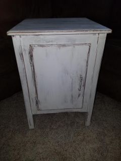 Distressed End table/cabinet