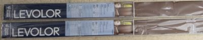 """2 New packages of Levelor Vanes, 52"""" L x 84"""" H"""