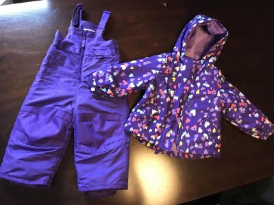 Toddler winter jacket and snow pants (18 month)