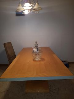 Dining room table with two leaves