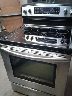 SS Frig and Electric Stove Pair