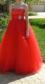 Mori Lee Red Prom Dress - Size 3/4