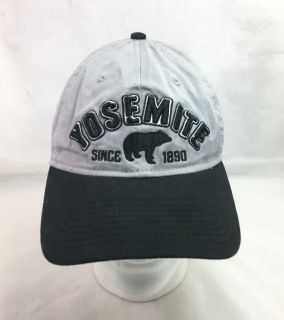 Yosemite National Park Baseball Cap Hat Gray Black Strapback