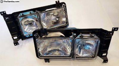 Square Headlight Set H4 E Marked 1986-1991