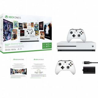 Xbox One S 500GB - Starter Bundle (4K Blu-ray)