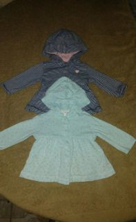 2 Carter's brand 3 months Excellent conditions light weight sweaters. SERIOUS BUYERS only