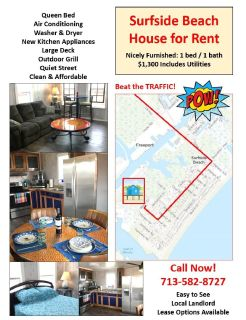 Surfside Beach - 1/1 House for Rent