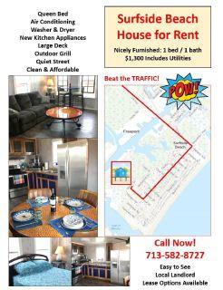 Surfside Beach - 1/1 House for Rent