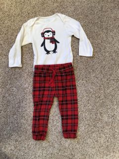Old Navy, 18-24 Month, Plaid Penguin