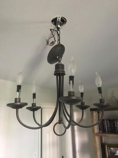 Small chandelier brushed bronze