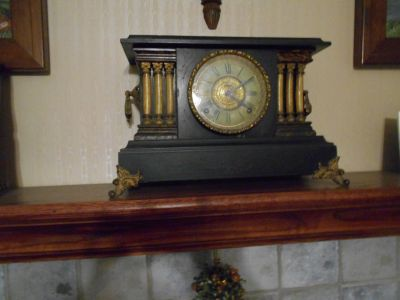 Antique clock with key