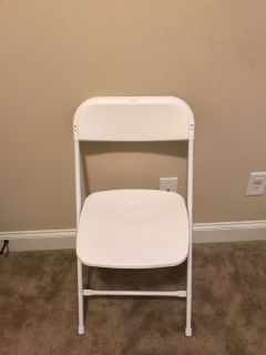 Excellent condition White folding chair