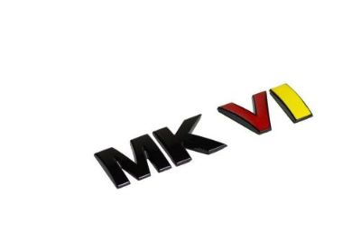 "Sell VW Golf Jetta MK6 Rear Trunk Badge emblem "" MKVI "" GLOSS GERMAN FLAG BLACK motorcycle in Watertown, Massachusetts, United States, for US $7.90"