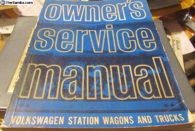 Service Manual StationWagon/Trucks 1964 GermanVW
