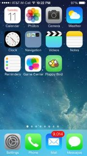 NEW iPhone 5s Silver 32gb with RARE FLAPPY BIRD APP installed