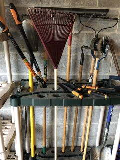 MOVING MUST GO Miscellaneous Yard Tools and Stand/Organizer