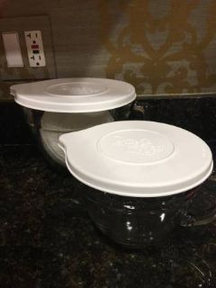 Pampered Chef Small and Large Batter Bowl Set with Lids