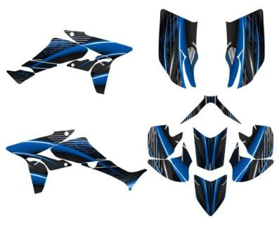 Find TRX 450R graphics Honda 450R custom decal kit #3333 blue motorcycle in Temecula, California, United States, for US $159.00