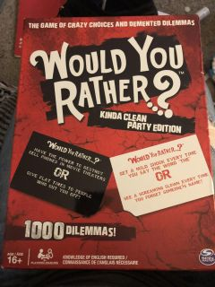 Would you rather board game?