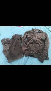 Tek gear brown jogging suit size small LIKE NEW